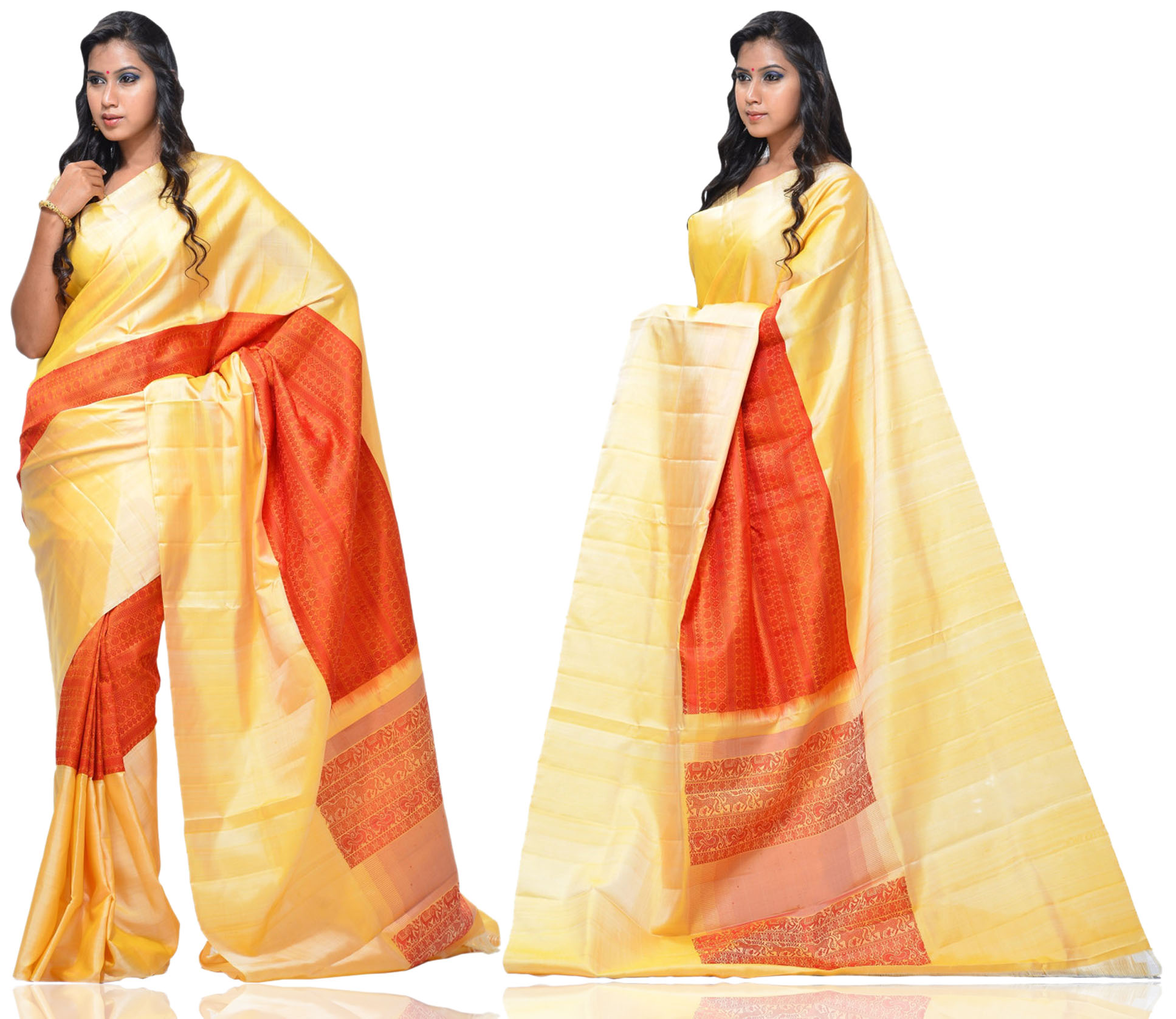 Price: - 13500 /-   New Arrivals Arrived kanchipuram Sarees with New Design. These Saree Gives You a Traditional Look of South India. This Saree Worn at Wedding, Parties, Festivals, Functions. Sign up now for E-book you will be updated with latest collection of ethnic verities. For More Info Click on :- www.uppada.com  We manufacture of Uppada sarees, Paithani sarees, Banarasi sarees, Venkatagiri Sarees, Gadwal Sarees, Khadi sarees, Hand Painted Kalamkari Dupatta, Ikkat sarees, Kanchipuram Sarees, Atr Poly Silk Sarees, Dupattas, Stoles etc. For more info us at 040 64640303, 441905005.  Buy online: - uppada.com - by Paithani, Hyderabad