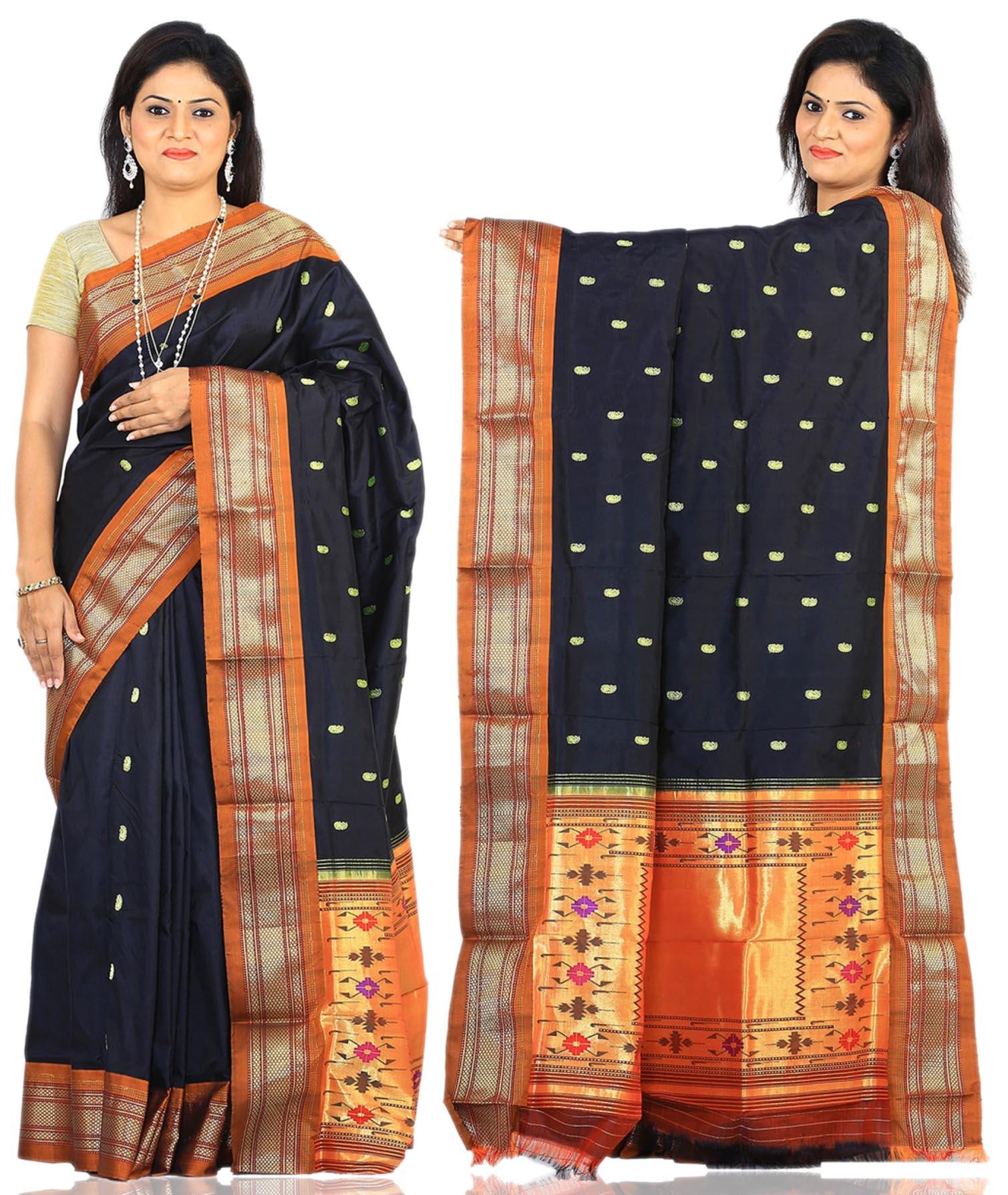 Price: - 15000/-  Paithani Sarees, Paithani Sarees online shopping, Paithani Silk Saree With Matching Blouse Piece, Paithani Sarees Price. Sign up now for E-book you will be updated with latest collection of ethnic verities. For More Info Click on :- www.uppada.com  We manufacture of Uppada sarees, Paithani sarees, Banarasi sarees, Venkatagiri Sarees, Gadwal Sarees, Khadi sarees, Hand Painted Kalamkari Dupatta, Ikkat sarees, Kanchipuram Sarees, Atr Poly Silk Sarees, Dupattas, Stoles etc. For more info us at 040 64640303, 441905005. Buy online: - uppada.com - by Paithani, Hyderabad