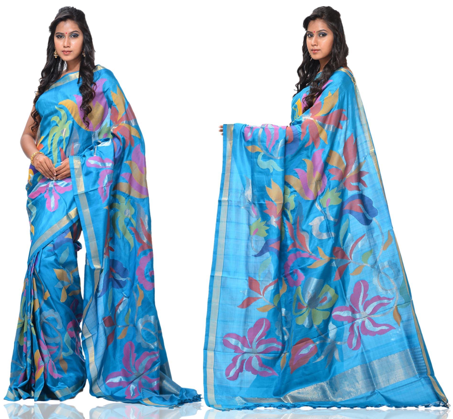 Price: - 28500/-   Uppada presents new collection of uppada sarees, uppada cotton silk sarees, uppada silk sarees, uppada silk sarees. Sign up now for E-book you will be updated with latest collection of ethnic verities. For More Info Click on :- www.uppada.com  We manufacture of Uppada sarees, Paithani sarees, Banarasi sarees, Venkatagiri Sarees, Gadwal Sarees, Khadi sarees, Hand Painted Kalamkari Dupatta, Ikkat sarees, Kanchipuram Sarees, Atr Poly Silk Sarees, Dupattas, Stoles etc. For more info us at 040 64640303, 441905005.  - by Paithani, Hyderabad
