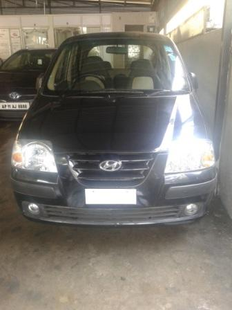 HYUNDAI SANTRO GLS:MODEL 10/2010, KM 63039, COLOUR BLACK, FUEL PETROL, PRICE 290000 NEG. - by Nani Used Cars, Hyderabad