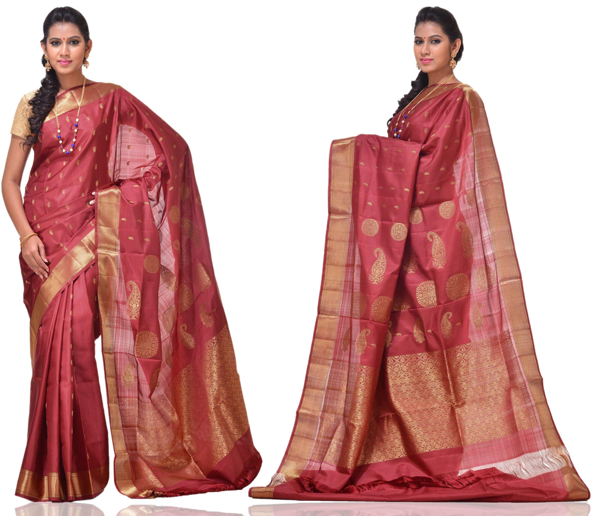 Price: - 14, 500/-   New Arrivals Arrived kanchipuram Sarees with New Design. These Saree Gives You a Traditional Look of South India. This Saree Worn at Wedding, Parties, Festivals, Functions. Sign up now for E-book you will be updated with latest collection of ethnic verities. For More Info Click on :- www.uppada.com    We manufacture of Uppada sarees, Paithani sarees, Banarasi sarees, Venkatagiri Sarees, Gadwal Sarees, Khadi sarees, Hand Painted Kalamkari Dupatta, Ikkat sarees, Kanchipuram Sarees, Dupattas, Stoles etc. For more info us at 040 64640303, 441905005.  Buy online: - uppada.com  - by Paithani, Hyderabad