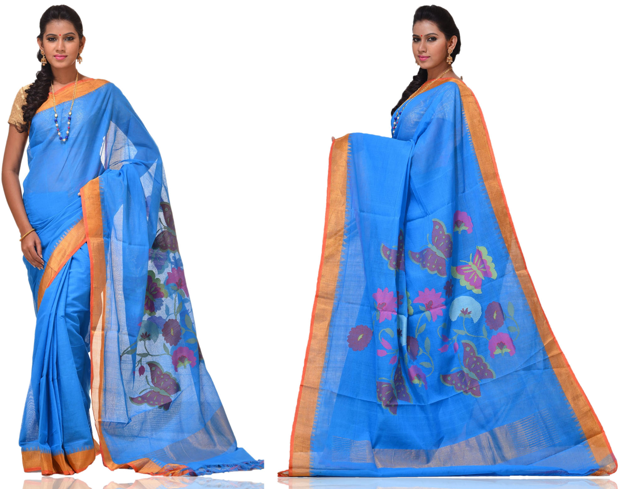 Price: - 12500/-   New designs of khadi sarees, khadi cotton silk sarees, khadi cotton fabric, khadi silk sarees. Sign up now for E-book you will be updated with latest collection of ethnic verities. For More Info Click on :- www.uppada.com  We manufacture of Uppada sarees, Paithani sarees, Banarasi sarees, Venkatagiri Sarees, Gadwal Sarees, Khadi sarees, Hand Painted Kalamkari Dupatta, Ikkat sarees, Kanchipuram Sarees, Dupattas, Stoles etc. For more info us at 040 64640303, 441905005.  Buy online: - uppada.com  - by Paithani, Hyderabad