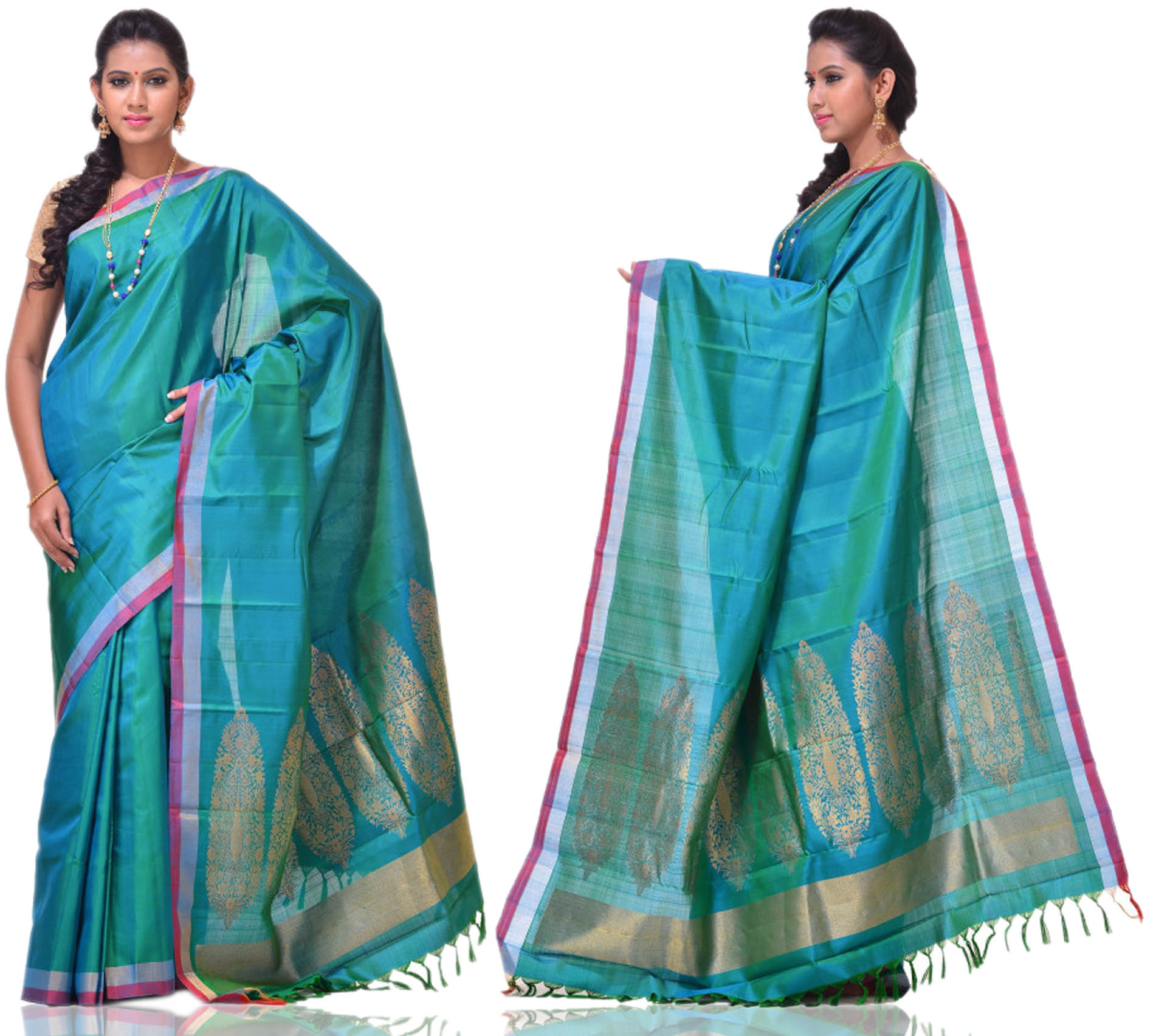Price: - 8500/-   New Arrivals Arrived kanchipuram Sarees with New Design. These Saree Gives You a Traditional Look of South India. This Saree Worn at Wedding, Parties, Festivals, Functions. Sign up now for E-book you will be updated with latest collection of ethnic verities. For More Info Click on :- www.uppada.com  We manufacture of Uppada sarees, Paithani sarees, Banarasi sarees, Venkatagiri Sarees, Gadwal Sarees, Khadi sarees, Hand Painted Kalamkari Dupatta, Ikkat sarees, Kanchipuram Sarees, Dupattas, Stoles etc. For more info us at 040 64640303, 441905005.  Buy online: - uppada.com - by Paithani, Hyderabad