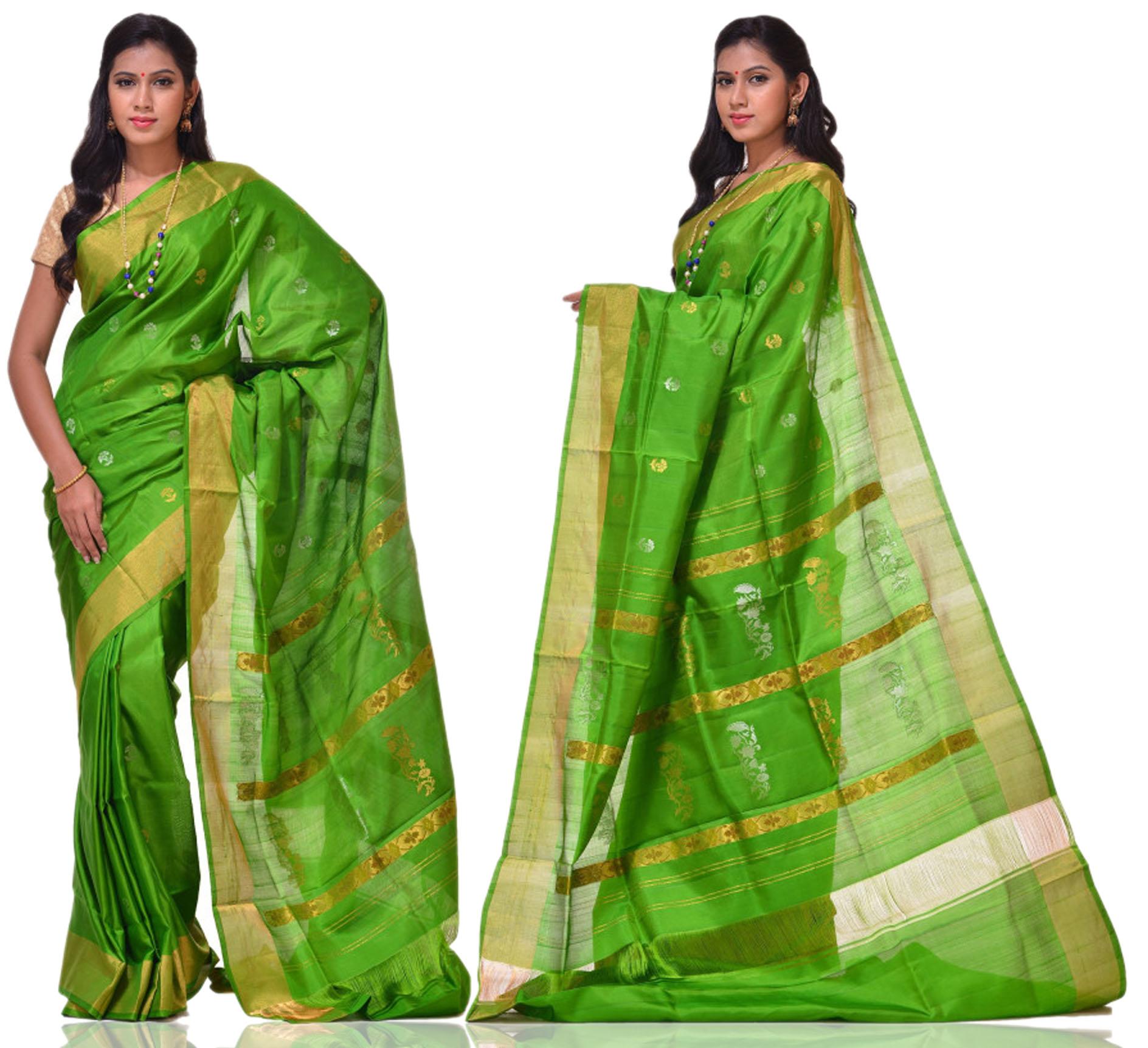 Price: - 10000/-   Uppada presents new collection of uppada sarees, uppada cotton silk sarees, uppada silk sarees, uppada silk sarees. Sign up now for E-book you will be updated with latest collection of ethnic verities. For More Info Click on :- www.uppada.com  We manufacture of Uppada sarees, Paithani sarees, Banarasi sarees, Venkatagiri Sarees, Gadwal Sarees, Khadi sarees, Hand Painted Kalamkari Dupatta, Ikkat sarees, Kanchipuram Sarees, Dupattas, Stoles etc. For more info us at 040 64640303, 441905005.  - by Paithani, Hyderabad