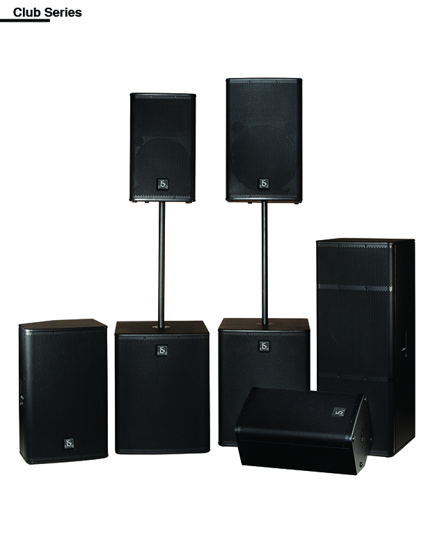 professional speakers  This Comprehensive speaker lineup includes four models BSR-108 , BSR-110 , BSR-112 , BSR-115 &  Sub-woofers BSW-112, BSW -115, BSW- 118 for front of house & club use. four models fir monitoring, and three sub-woofers. The front of house  & club speakers are available with 12 inch, 15 inch, 18inch, woofers, giving you a range of choices  to suit your needs. For monitor speakers you have a choice of 8 inch , 10inch, 12inch, 15inch models The subwoofer lineup has also been expanded and enhanced: in addition to a new 15 inch & 18 inch model, the previous twin -driver model (15 inch x 2 ) (18inch x2)