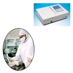 UV Spectrophotometer for Research Institutions  We also offer our clients a wide range of UV Spectrophotometer for Research Institutions. Our products can be easily availed from the market at very reasonable rate.  Specifications:  Covers 195 to 1000nm 4 position cuvettes holder RS-232C computer interface Wavelength: 195 To I100nm Spectral Bandwidth: 2 Nm Accuracy: ± 0.5 Nm Resolution: 0.1 Nm