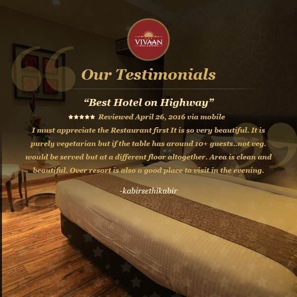 Thanks for such Lovely words. #Testimonials from our customers who visited THE VIVAAN.  Source - Google reviews, Tripadvisor