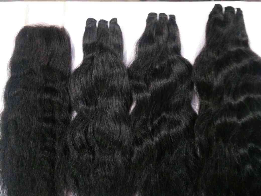 Virgin Hair weft manufacturer in New Delhi  we have manufacturing in New Delhi. we collect hair from Temple, done all the procedure at our own to make best quality hair product.