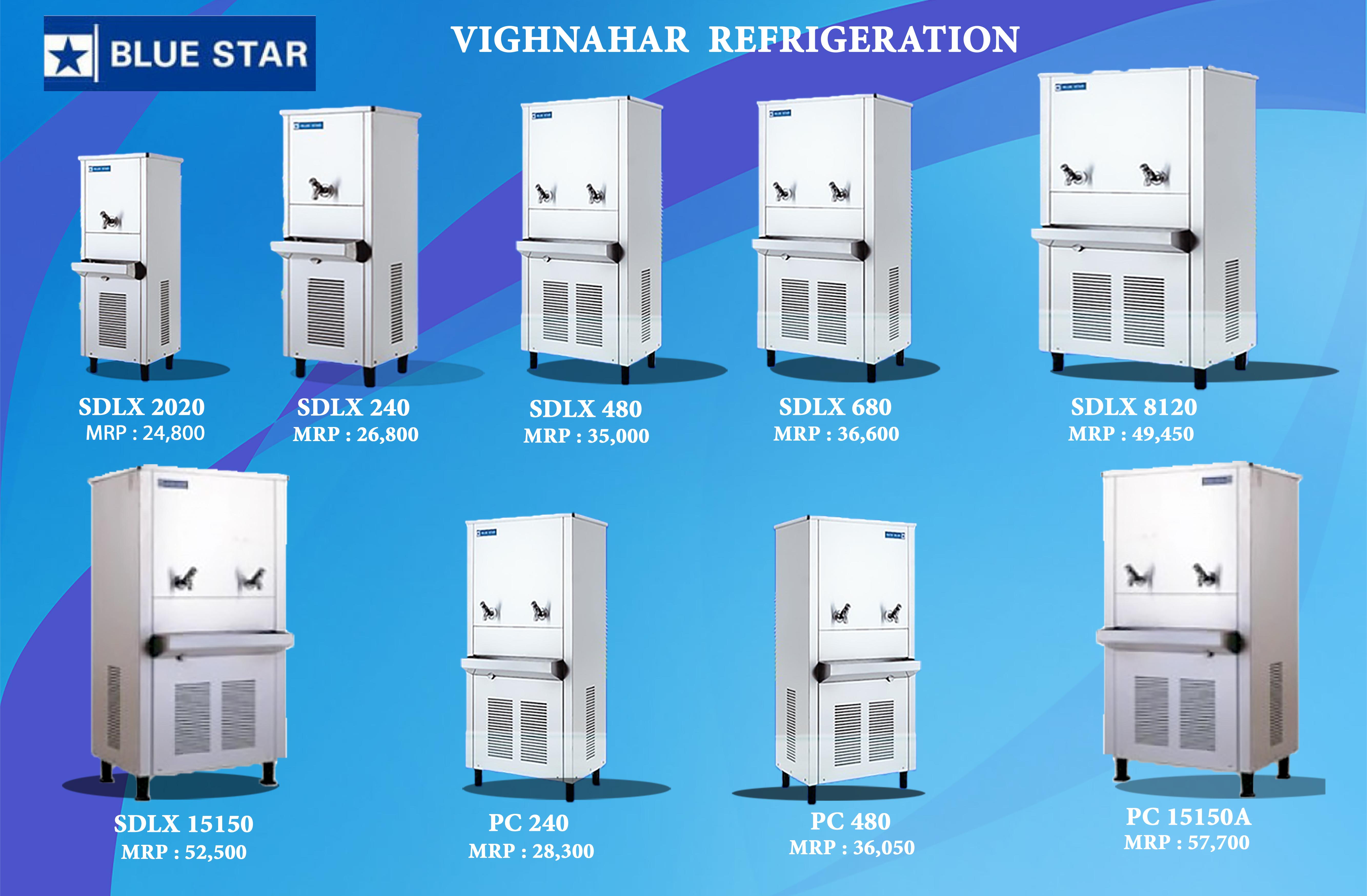 Water Coolers of various ranges.