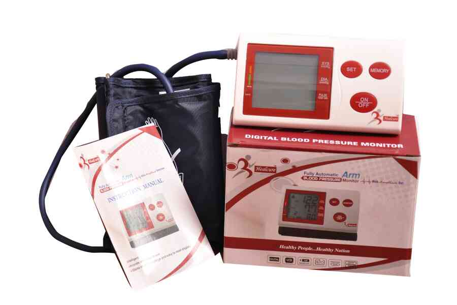 Healcure Digital blood pressure monitor can be used with out battery.