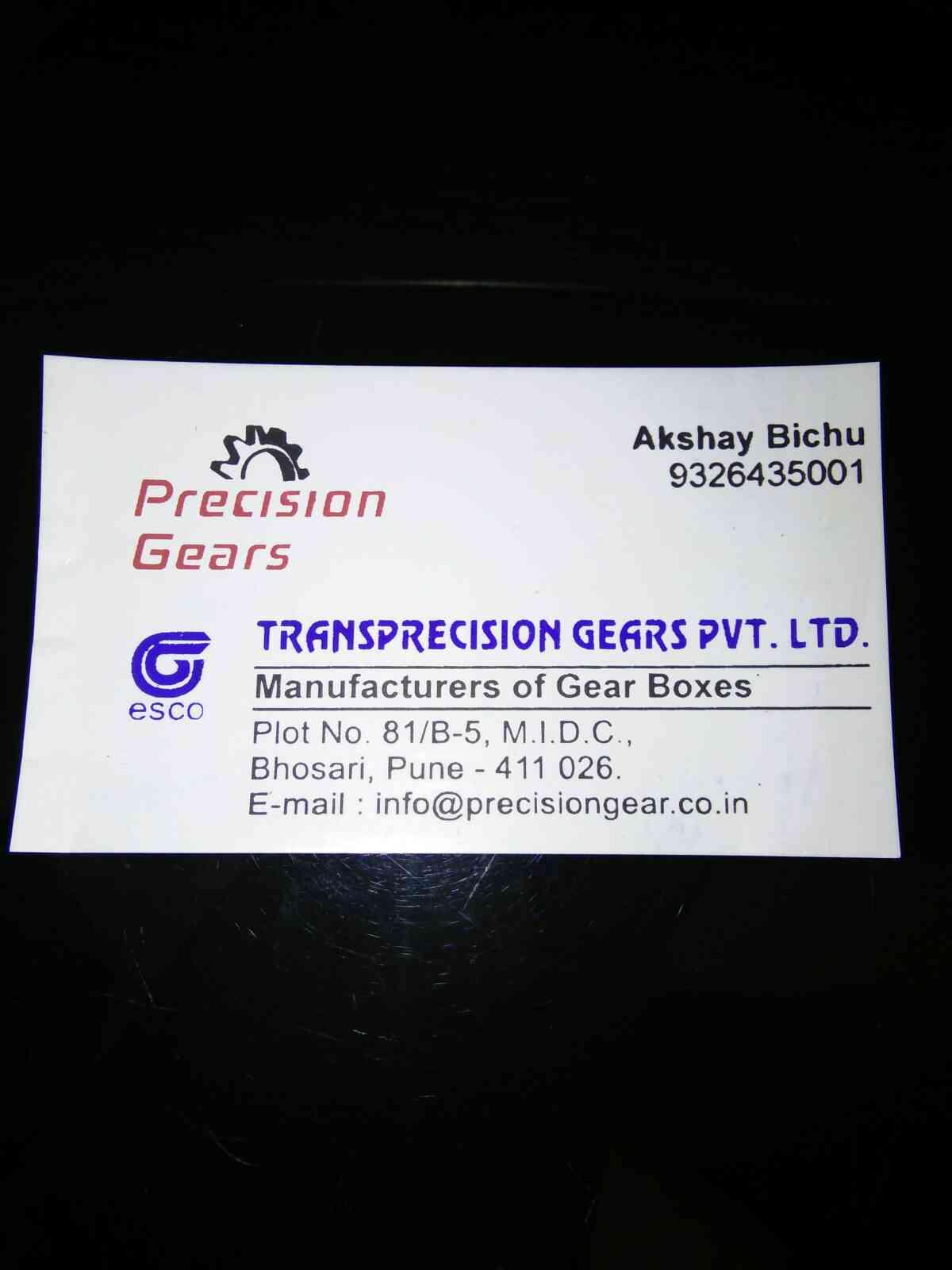 Gear box manufacturer in pune .