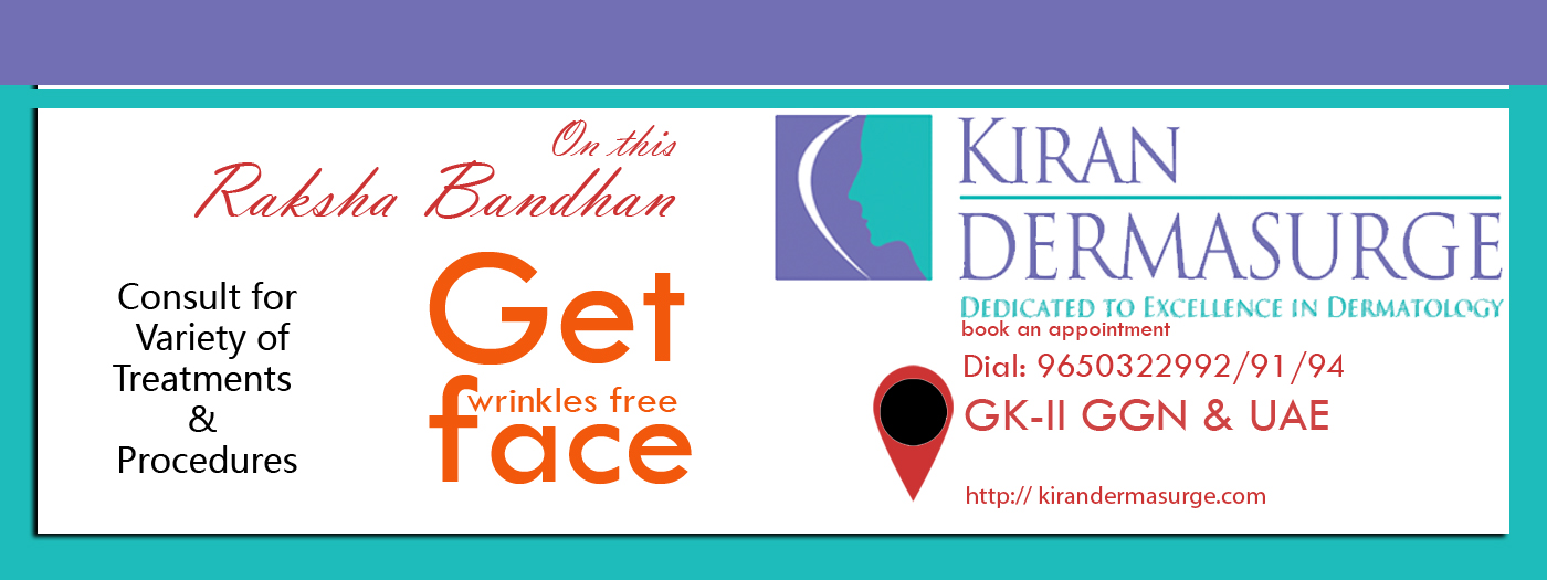 On this Rakshabandhan  Get wrinkles free Face Consult for Variety of Treatments and Procedures.