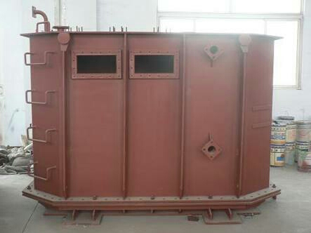 Transformer tanks are manufactured from high quality raw material such as aluminum, mild steel, non-magnetic material, copper etc. For tank bodies of most of the transformers, rolled steel plates are used. From boiler plates, the huge tanks are assembled. Aluminum used in transformer tank lowers the weight and drift magnetic losses. The transformer tank is widely used in power station, transformer station, and auxiliary plants