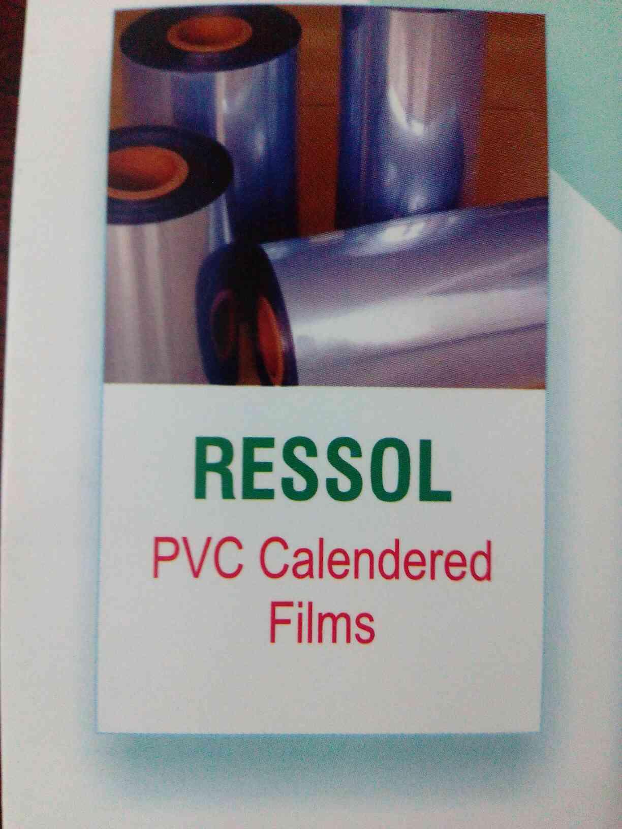 Ressol pvc calenderd films