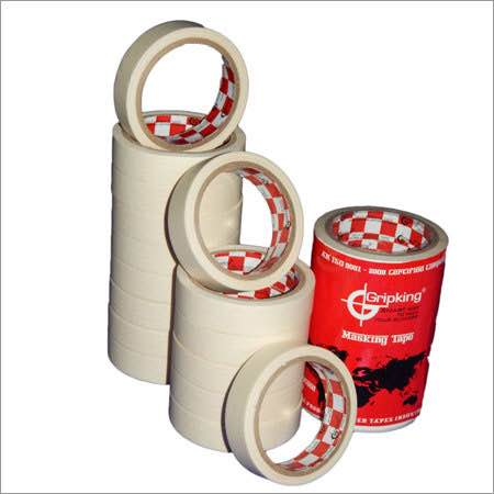 With the strong support of our ingenious experts, we are able to manufacture, export and supply a superior quality array of Paper Masking Tape. Known for its excellent adhesion, the provided tape is widely used for masking and sealing purpose and is widely cherished amongst the patrons all over the world. Our adroit professionals manufacture this tape by utilizing excellent quality basic materials at our highly advanced manufacturing unit. In addition to this, our clients can avail this Paper Masking Tape  at reasonable rates from us. We are located at Kapadvanj, Gujarat.