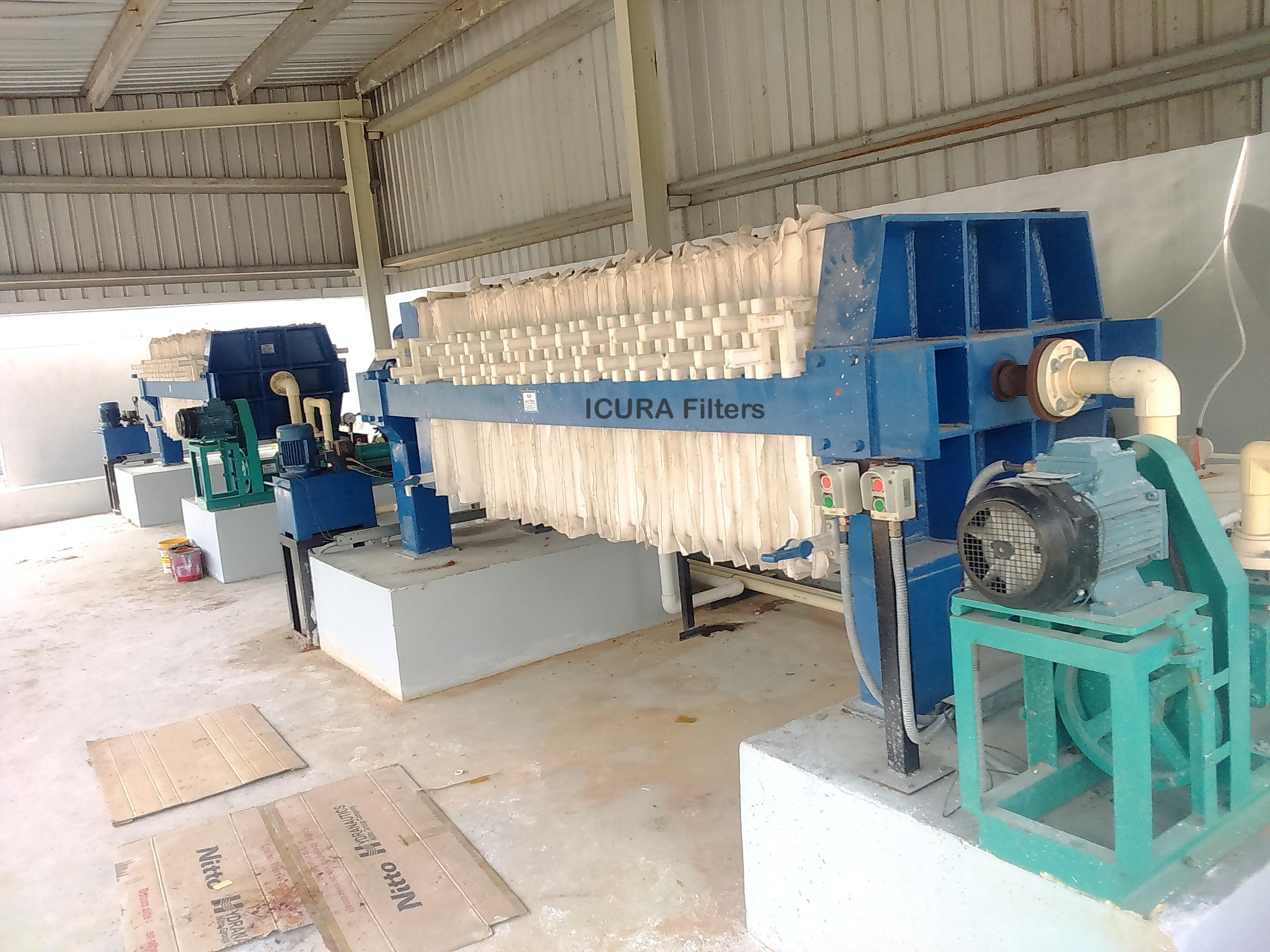 Filter Press at Pigment manufacturing company