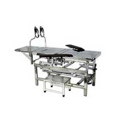 Operating Tables Manufacturer in Chennai  We are highly renowned manufacturer, exporter and supplier of a wide range of Operating Tables which is used to treat the patients in the operation theater & known for their operability, these operating tables are manufactured with finest grade of material by our workforce in synchronization with quality standards. Additionally, offered operating tables are checked under the inspection of our experienced professionals and provided on numerous specifications.  Features:  Smooth functionality Adjustable High durability