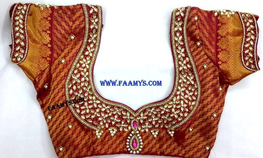 Bridal Blouse Stitching in Annanagar We Stitch Bridal Blouse Designing , Patchwork Blouse, Designer Blouse, Marriage Veil, Flower Girl Dresses. We are designing Bridal/Fancy Blouses, Maggam Work Blouses and Pattu Pavadai. We specialize in stitching various types of Blouse In Annanagar