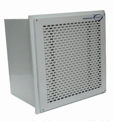Aeromech™ Positive Pressure Module for Product Protection Aeromech™ Designed for Ambient clean down these modules are available in a variety of versions, ceiling suspended, table top, wall mounted and floor standing Capacities range from 250 CFM to 1500 CFM. While the larger modules are intended for use in production areas, the smaller and more compact units are designed to reduce considerably the overall biologic and non biologic airborne particulate activity level. Especially in microbiological laboratories, intensive care area in hospitals, conference rooms and homes with convalescents  Available Version: Window Mounted  Ceiling Suspended Type