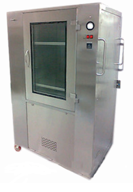 Aeromech Make Mobile Cart:  Aeromech make Mobile Trolley is designed for transporting sterile products under ISO Class 5 (Class 100) particle free work area for storing products to meet storage needs while making a positive contribution to maintaining the cleanliness of your controlled Clean room environment.  The work area is continuously supplied with positive pressure HEPA filtered recalculated vertical / horizontal air flow. Our range of mobile trolley cabinet is available invariousspecificationsaspertheclient's requirements.  Mobile Trolley is with a variety of standard dimensions also our Mobile Trolley can be custom engineered to any size. These units are available in powder coated Mild Steel, SS 304 / 316 / 316L or a combination of both.