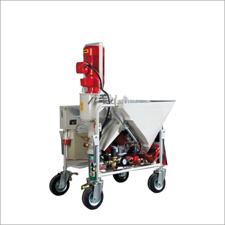 AUTOMATIC PLASTERING PUMP  We are manufacturer, Supplier, Importer,  Trader and Service Provider of plastering pump in vadodara, Gujarat, India.  It has fetures like Easy to operate,  High durability,  Low maintenance,  Reasonable rates.