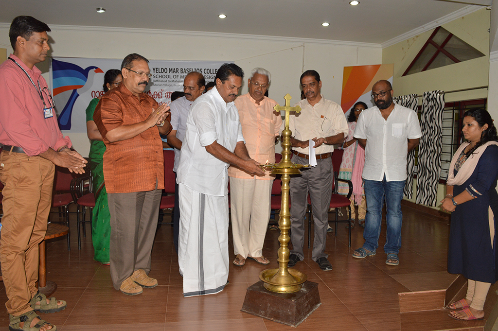 School of Media & Design, a wing of Yeldo Mar Baselios College, celebrated Rank Holders Meet 2015-16 at our Campus Venue of Marian Village, Puthuppady on 7th September 2016. The auspicious event was inaugurated by Shri A. G. George, Municipal Vice Chairman of Kothamangalom.   Rank Holders List (MG University Rank List)   1st Rank in MA Animation (March 2015)  Name of the Student: Nithya Varghese   1st Rank in BA Animation & Graphic Design (March 2015)  Name of the Student: Akhila Sekhar   1st Rank in BA Animation & Graphic Design (March 2016)  Name of the Student: Alex M Alias   2nd Rank in BA Animation & Graphic Design (March 2016)  Name of the Student: Basil Saju   3rd Rank in BA Visual Arts (March 2016)  Name of the Student: Rahul Rajan   4th Rank in BA Visual Arts (March 2016)  Name of the Student: Amy Paul   5th Rank in BA Animation & Graphic Design (March 2016)  Name of the Student: Joyal Reji