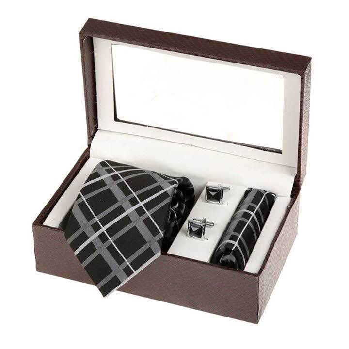 Designer Micro Fiber Tie Hanky Cufflink set, manufactured using European Standard Manufacturing, suitable for weddings, parties and can be used for gifting purpose as well.