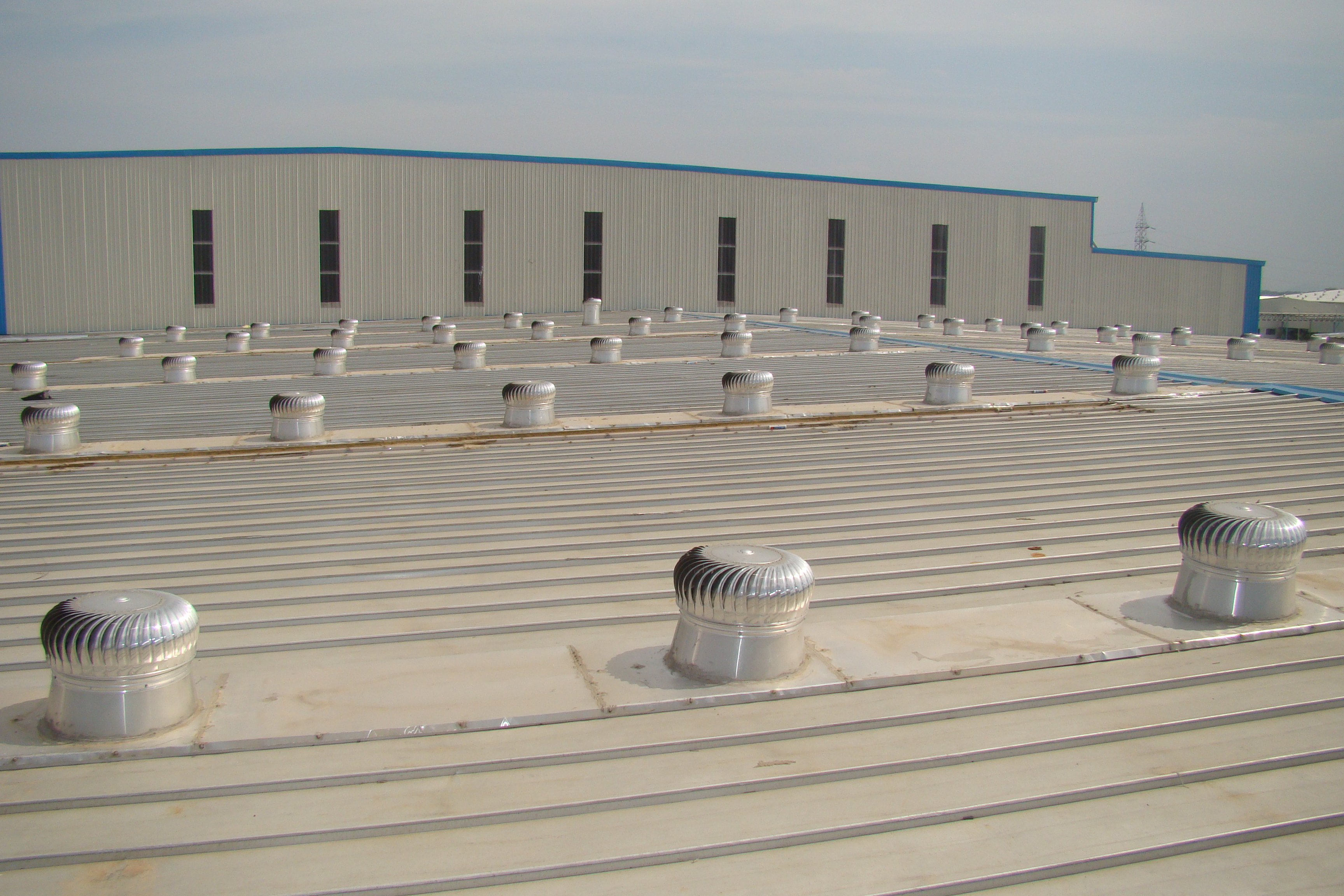 Wind Driven Ventilators  The wind driven ventilators totally built by aluminium it is automatically rotate without power it will helpful to  suck the hot and humidity from the factory inside premises