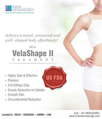Thinking about toning your body effortlessly? Contact Kiran Dermasurge to know more about the new VelaShape Treatment! Click to know more: http://www.kirandermasurge.com/vellashape