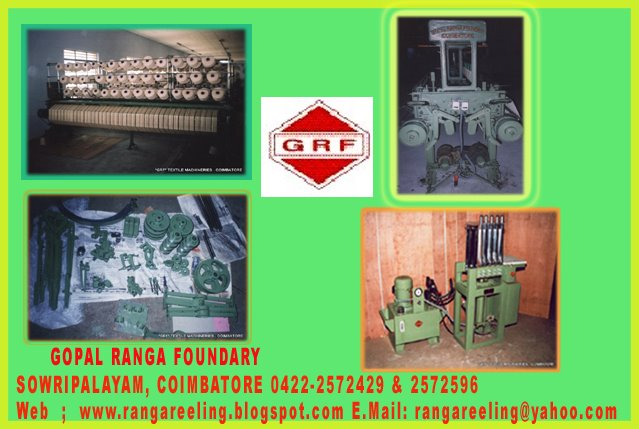 Reeling Machines Manufacturer  Technical Specifications  ModelAuto Reeling Machine Number of Cones30 - 40 cones each side (Double Side) Yarn Stop MotionBy Photo Cells Brake Motor0.75 HP to 1.00 HP Magnetic Brake Type of Hank OperationPlain and Cross Overall Size525cm x 180cm x 210cm Net Weight900 Kgs approx  Reeling Machine Suppliers In Coimbatore Reeling Machine Manufacturers In Coimbatore Reeling Machine Manufacturers In Andhra