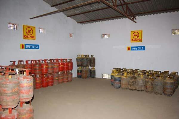 Bitumen mastic flooring for lpg godown and bottling plant.
