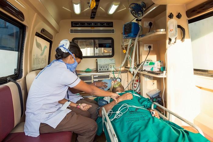 VENTILATOR AMBULANCE IN TIRUPUR  ICU ON WHEELS VENTILATOR FACILITY 24 HRS EMERGENCY DOOR STEP PICK UP