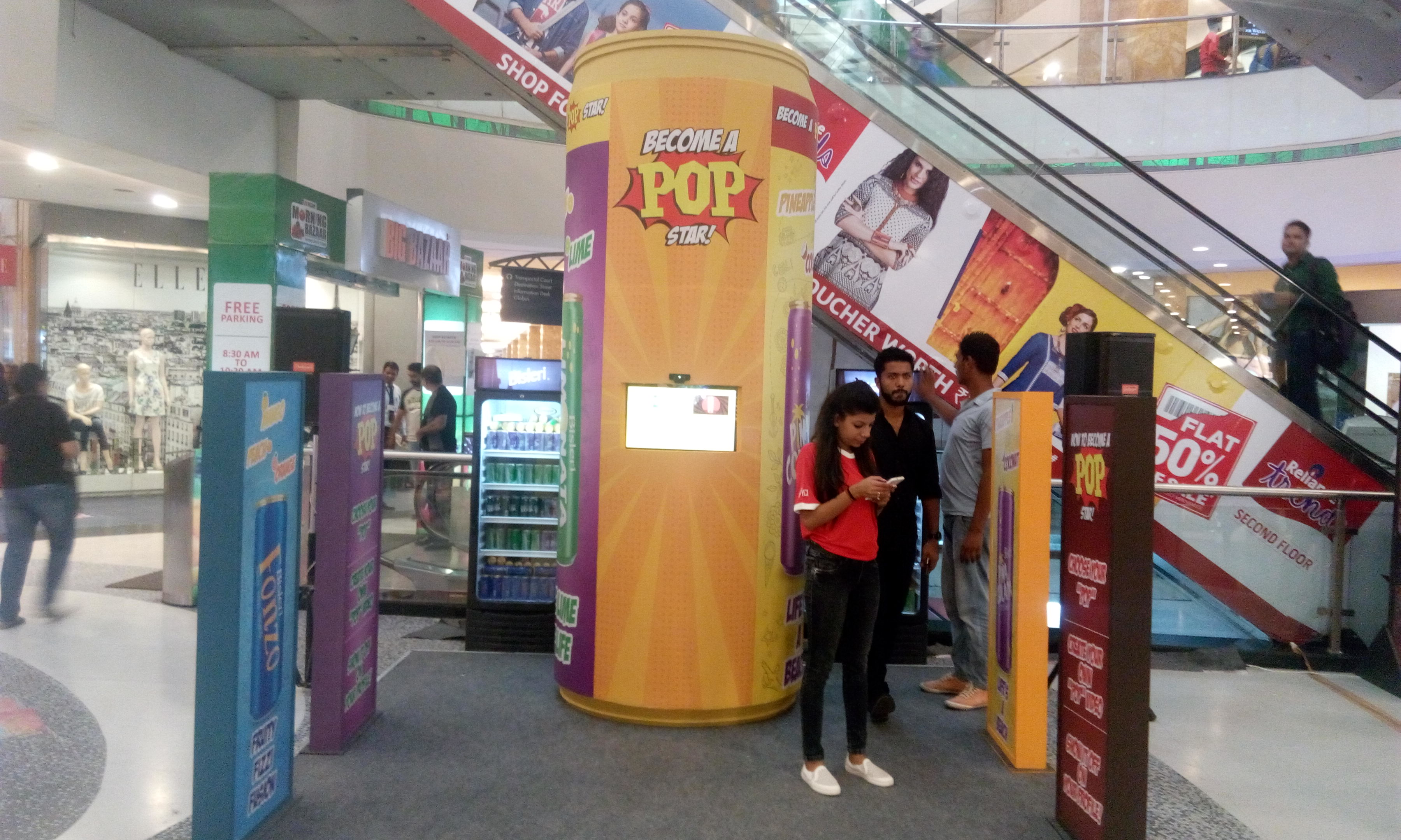 Bisleri has launched a four new fizzy drinks  Costel Networks Pvt Ltd had successfully organised the live streaming at Bisleri Launching Event.   We provided Internet Bandwidth Of 10 Mbps For Bisleri Acitivity In Mall