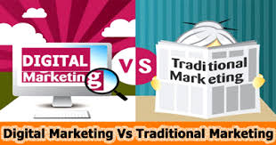 DIGITAL MARKETING V/S TRADITIONAL MARKETING  every enterprise wants to promote their brand, construct desire and increase income by using constructing up a stable purchaser base. everyone knows that most components of the enterprise depend on advertising that to perform improvement, advertising and marketing the business is key aspect that wishes to be applied. advertising methods consist of conventional advertising and marketing that's taking place given that companies started out advertising and similarly digital marketing which is the more recent and more effective way to reach great peoples.  what's Digital Marketing?  traditional advertising and marketing refers to the advertising that includes Printing, declares, Newspapers, Magazines, tv, and so on. and being utilized by the businesses for years. while digital advertising is the manner that connects to the 2 approaches of communications via the net channels like social media web sites, cellular programs and many others.  Key forms of Digital Marketing  – Search engine optimization – Search engine marketing – Internet banner ads – Content marketing – Online video content – Pay-per-click (PPC) advertising – Email marketing – Social media marketing (Facebook, Twitter, LinkedIn, etc.) – Mobile marketing (SMS, MMS, etc.)  Why Digital Marketing?  the world is moving from analog to digital swiftly and nobody can deny it. people are ingesting most time on cellular telephones, laptops and computers on a each day foundation, so this a very effective manner to method them without difficulty. digital advertising every now and then internet advertising isn't always most effective a growing type of current advertising, however additionally is set to be the future of advertising. digital marketing may be very lower priced, greater versatile and faster than conventional advertising and can doubtlessly transmit the message to a extensive range of target audience for the fraction of the cost than any conventional marketing sha