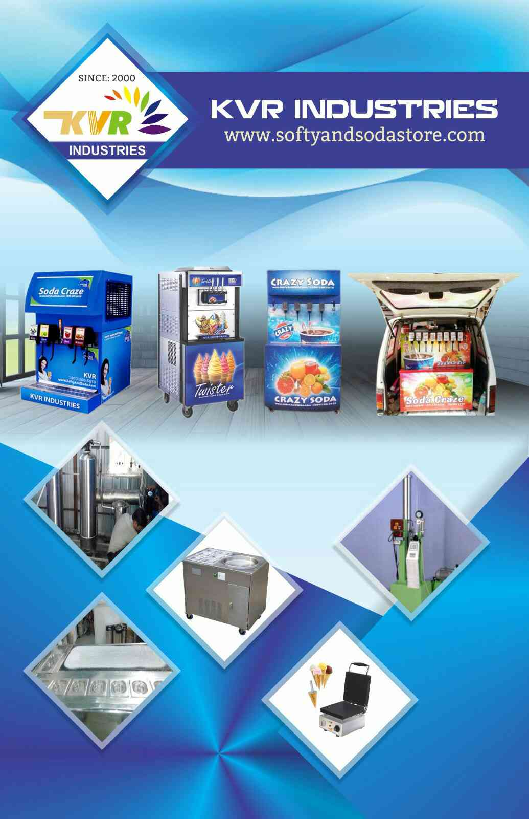 We are the leading manufacturers of Softy ice cream making machines