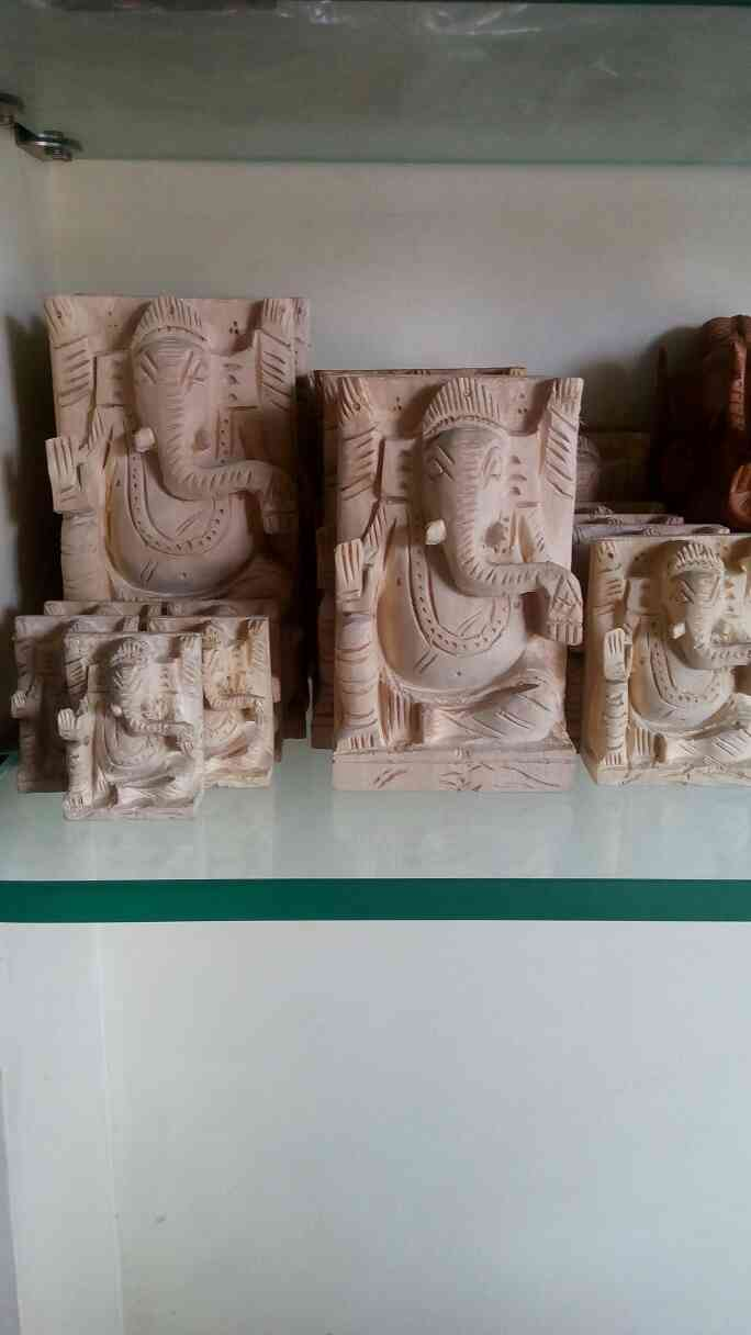 sevan wood Ganesh murti, manufacturer in Vadodara Gujarat.