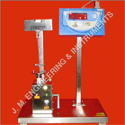 C V Meter; The machine is used to measure the cohesion value of creams and pastes as per international standards.