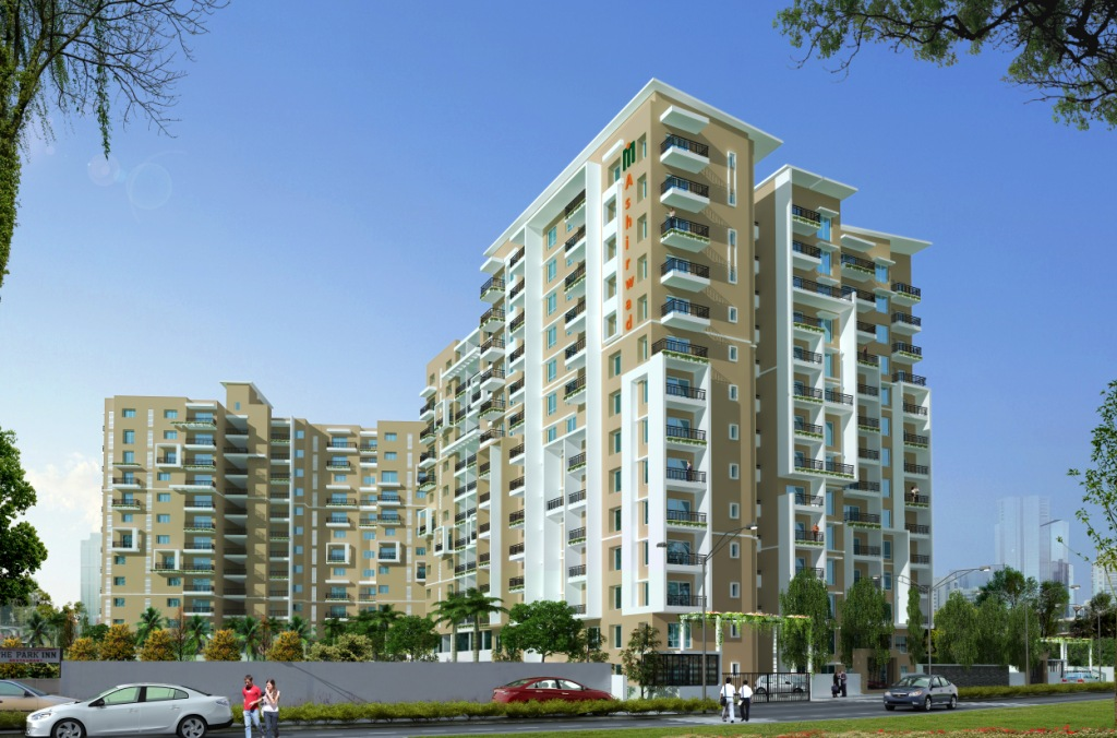 Luxury 3 BHK flat for sale in Bannerghatta Road Your prayers have just been answered with Maangalya Ashirwad. Luxurious 2, 3 & 4 bedroom apartments that come with a host of amenities and premium specifications.  Maangalya Ashirwad is taking shape on Bannerghatta road, Bangalore - probably the most prime location of the city. Everything is within striking distance here - from education and healthcare facilities to shopping, leisure and entertainment options and of course, the MNCs and IT companies that rub shoulders with each other on this busy stretch.  Despite its busy location Maangalya Ashirwad enjoys serene environs. 500 Acres of reserved forest area create a green lung space at the southern end of the project. A beautiful lake in front and lovely landscaped areas within the project further add to the natural beauty and tranquility.  Maangalya Ashirwad is spread across 2.55 sylvan acres. Four Residential towers emerge from the landscaped areas to house 209 happy families who will have the best of everything! The Vaastu-compliant project is a harmonious of residential, Project.  Ample car parking is assured with 2 Basements, Ground (Stilt Parking) and Surface Parking (Open)  Come, a blessed life awaits you here at Maangalya Ashirwad!