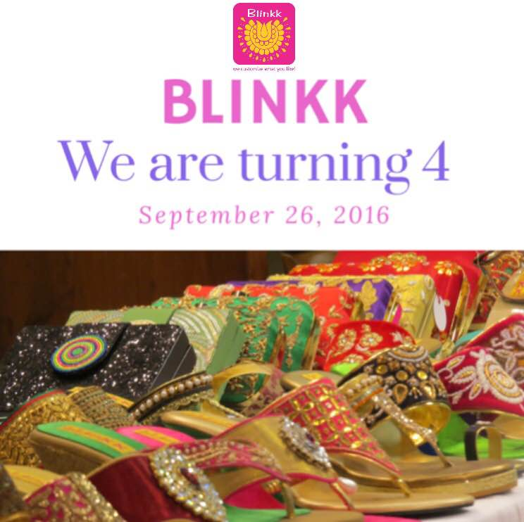 Anniversary SALE! We are very excited to celebrate our 4th anniversary with you. Enjoy FLAT 10% discount on Footwear and Bags(Including Orders). Shop from our studio or order us through WhatsApp. From:- September 26-October 2 +919726811777  #4thAnniversary #AnniversarySale #Blinkk #BlinkkFootwear #Footwear #Shoes #Potlis #BoxClutch #WeddingCollection2016 #Wedding #Collection #Bridal #BridalCollection #PotliBags #Designer