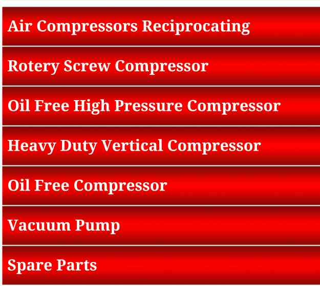 These are some of our Expertised Products!  We are located in your own city Ahmedabad of Gujarat state. Indo Air Compressor - The name is enough!!!