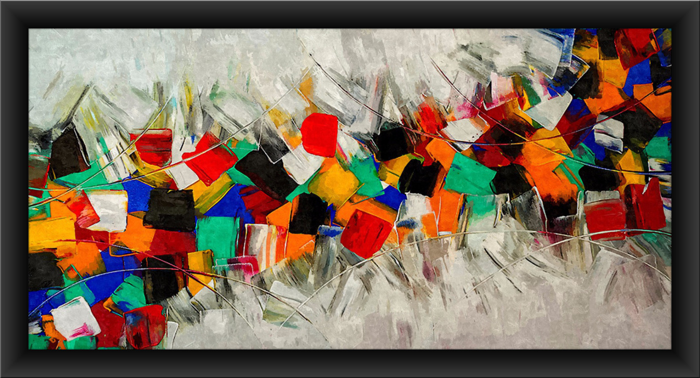 ABSTRACT ART FS-1305 PRINT ON CANVAS SIZE: 36