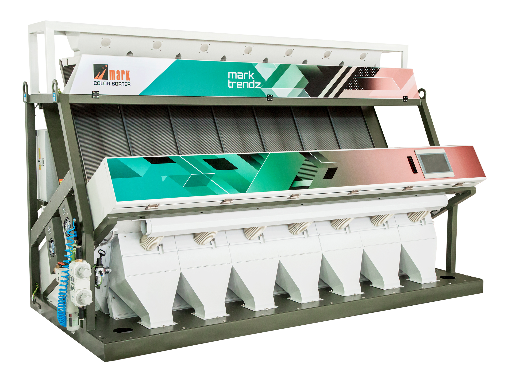 Tri Choromatic Camera Sorter Machine Manufacturer Mark Sorter Only Available For Trichromatic Camera Using In Indian Made .With Processor FPGA In Image Sensor RIce Colour Sorter Machine , Dhall Colour Sorter Machine ,  Plastic Sorter Machine, Grain Sorter Machine , Sorter Machine Manufacturer In India, Color Sorter Machine Manufacturer In Coimbatore ,  Udath Dall Sorter Machine ,  Bichromatic Camera Sorter Machine  www.marksorter.com