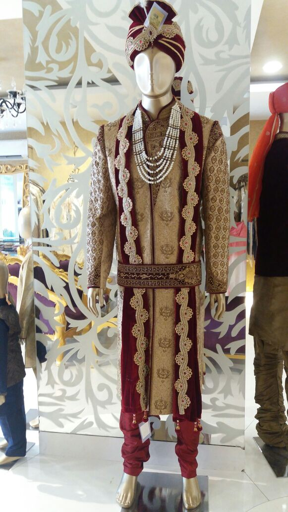 Latest Sherwani Available In Manyavar Showroom Bareilly.