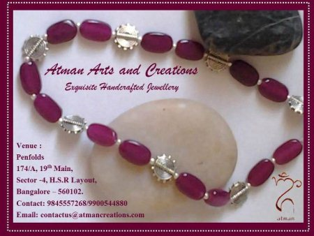 Atman Creations' Exhibition &  Sale of Exquisite handcrafted jewellery at PenFolds on 11th & 12th May, 2013. Your presense will be as precious... - by PenFolds, Bangalore Urban