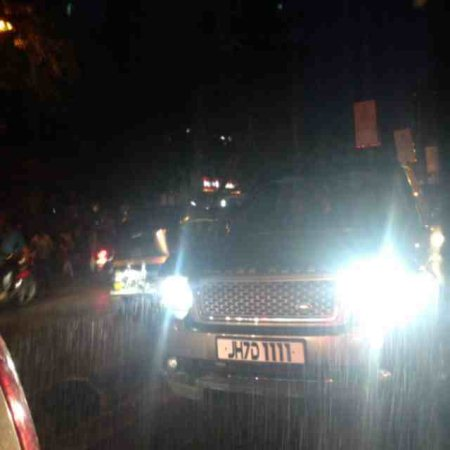 Celeb spotting! Here with Salman's Khan convey.  - by NowFloats, Hyderabad