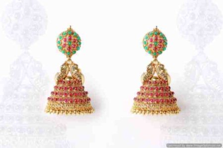 New temple jewellery earring - by Chaahat fashion jewellery, Hyderabad