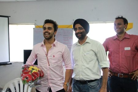 NowFloats Client Mr.Avneesh, MD of Neerus along with Mr.Jasminder Singh Gulati , CEO of NowFloats. Mr.Avneesh visited our office by sharing his experience with NoeFloats.   - by SEO IN HYDERABAD, Hyderabad