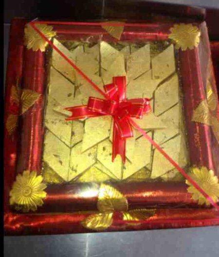 Kaju barfi (kaju katli) Gift pack - by AGRAWALA SWEETS, Hyderabad