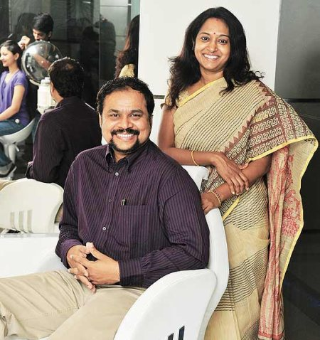 Creating a Beautiful World! Naturals was established a decade ago, with a dream to change not just the way people looked but to add ample positivity in their attitude to life! Veena K, Founder and her husband C.K Kumaravel, CEO & Co-founder - by Naturals Salon - Khandagiri Square, Bhubaneshwar, Bhubaneswar