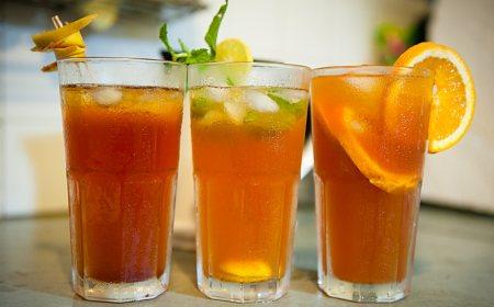 Enjoy refreshing Lemon Iced Tea or Peach Iced Tea at Anavila! Combine it with a plate of Hot Chicken Pakora, Onion Pakora or Mirchi Bajjis!  - by ANAVILA - Indie Bistro & Coffee Shop, Hyderabad